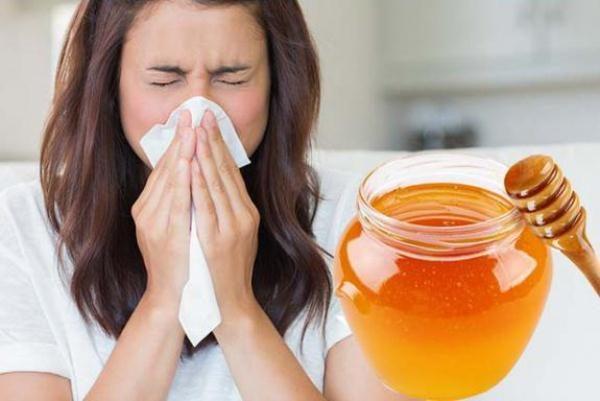 Uso de la miel para resfriados.