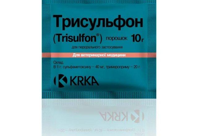 Preparación de Trisulfon para el tratamiento de enfermedades en conejos.