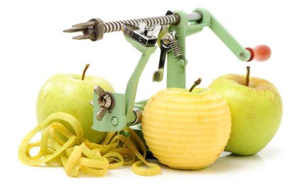 cuchillo de limpieza de manzana
