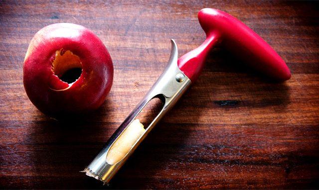 Removedor de la base de las manzanas