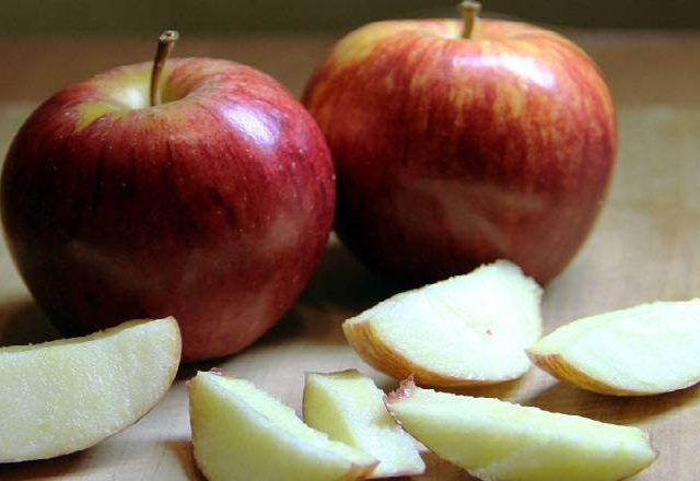 Congelación de manzana