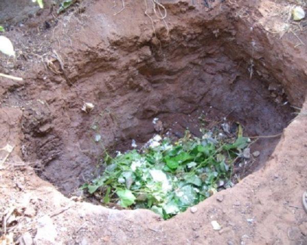 El pozo de compost puede ser simplemente excavado o bloqueado.