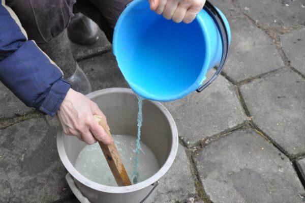 Dilución de la solución de sulfato de cobre.